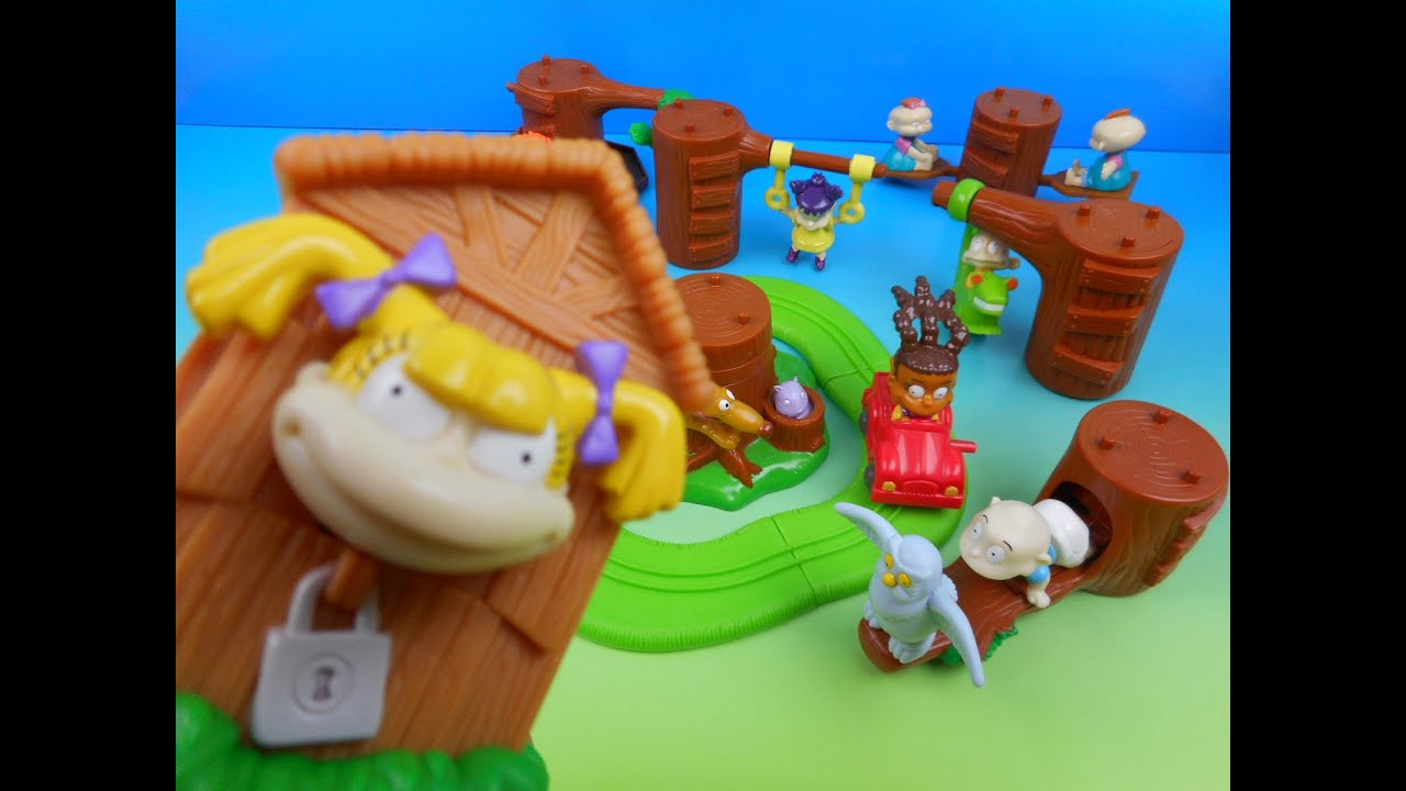 Toys From The 2000s : Nickelodeon rugrats set of burger king kids meal