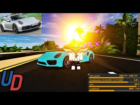 Review of the *NEW* Porsche 911 Turbo s in Ultimate Driving Roblox!