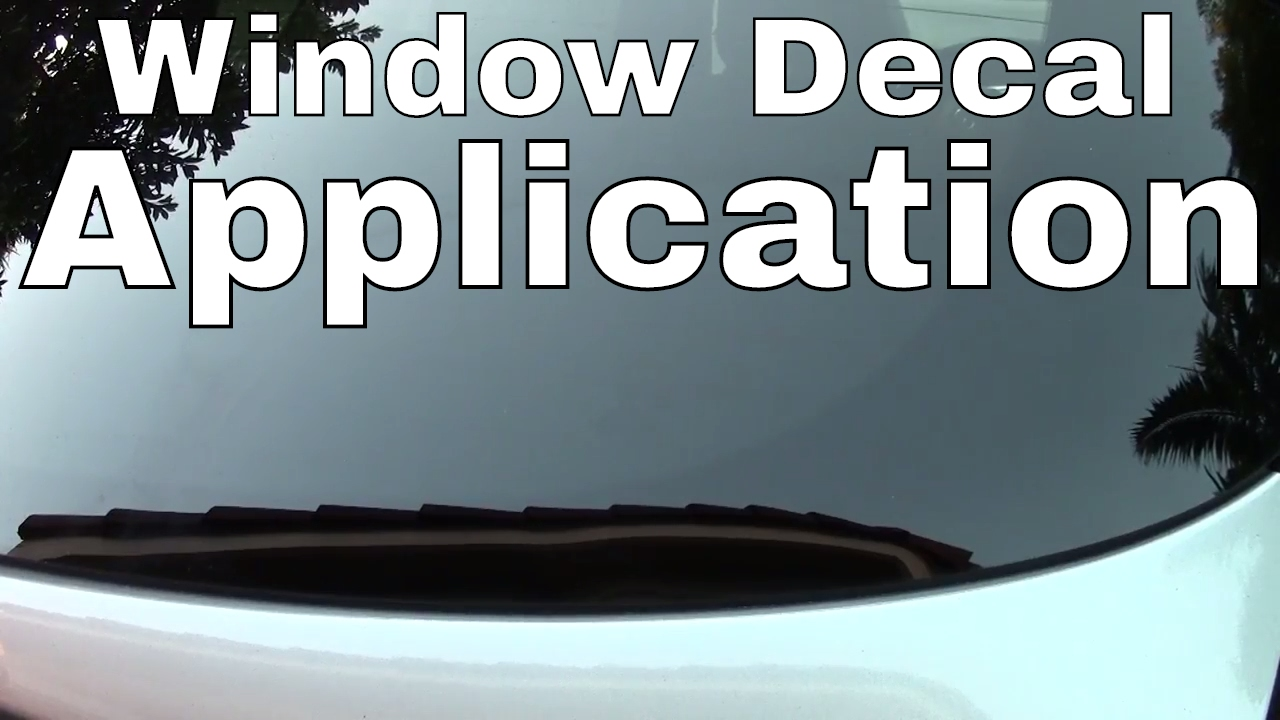 How to apply a vinyl die cut decal to a car window