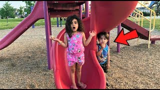 Hide and Seek at the playground park family fun vlog