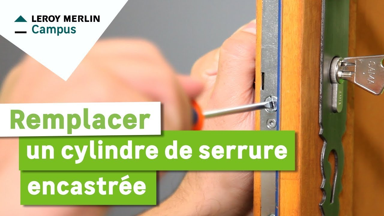 Comment Remplacer Un Cylindre De Serrure Encastrée YouTube - Porte placard coulissante avec barillet de serrure