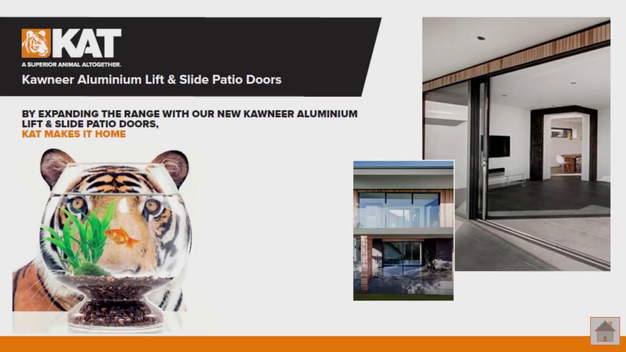 Kat kawneer aluminium lift and slide doors youtube kat kawneer aluminium lift and slide doors eventelaan Image collections
