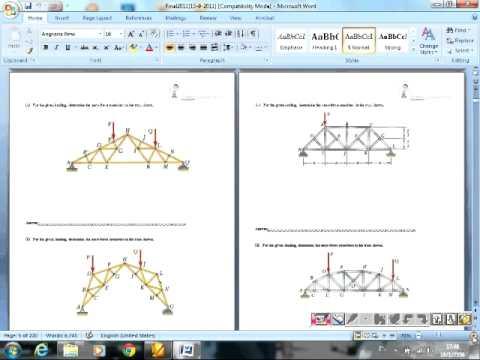 Statics เรื่องการวิเคราะห์โครงสร้าง [[Structural Analysis]][[E2plus]]