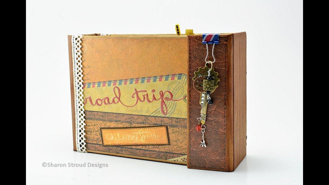 How to scrapbook a road trip - Road Trip Adventure 5x7 Mini Scrapbook Album