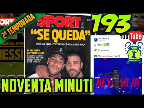 90 MINUTI 193 Real Madrid - MLS All-Star y NEYMAR al PSG (03/08/2017)