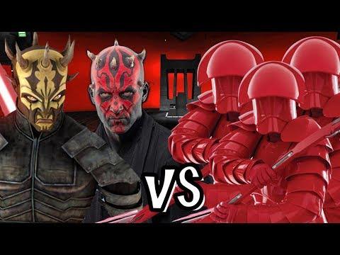 Darth Maul and Savage Opress vs Snoke's Praetorian Guards