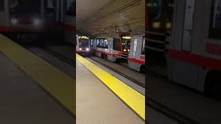 SF Muni S200 Siemens LRV4 Train 2021+2029, Breda LRV2+3 1415, 1448+1537, 1493