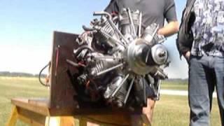 14 cylinder radial engine seidel1426 364 ccm