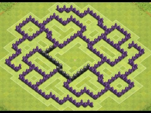 Clash of Clans - Town Hall 8 Farming Base (Merry go Round)