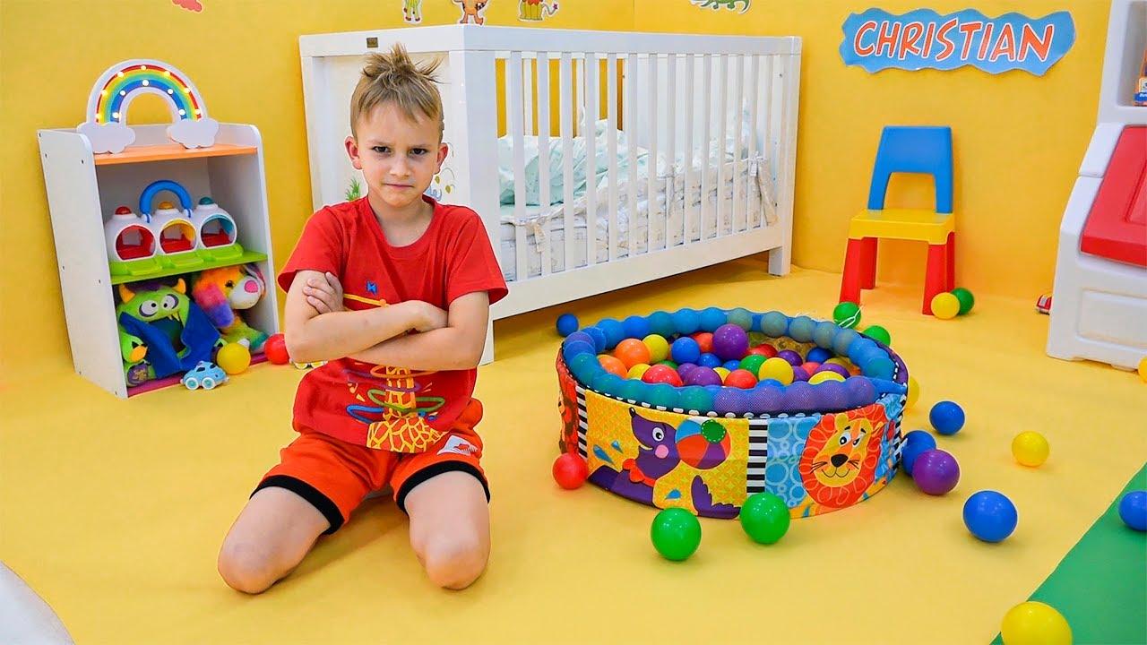 Vlad et Niki jouent avec bébé Chris | Vidéos amusantes pour les enfants