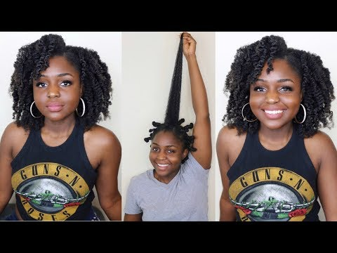 Bantu KNot out on long 4c hair ft Taliah waajid