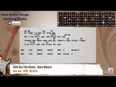 Still Got The Blues - Gary Moore Guitar Backing Track with vocal, chords and lyrics