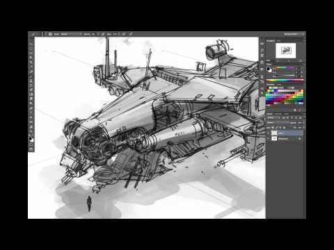 Ryan Dening Dropship Concept Art Tutorial - Part 1: Thumbnai