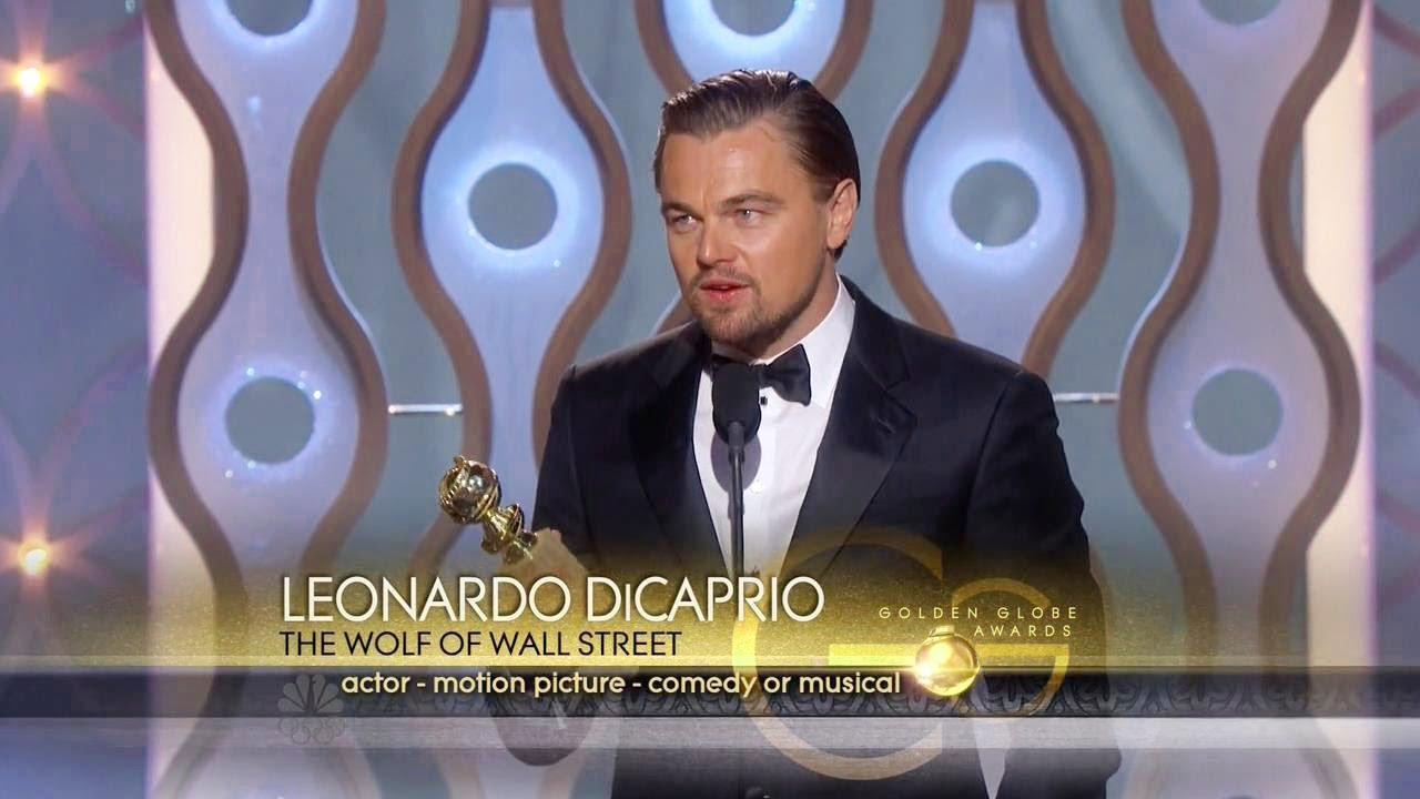 Golden Globes 2014 Leonardo DiCaprio Best Actor Comedy
