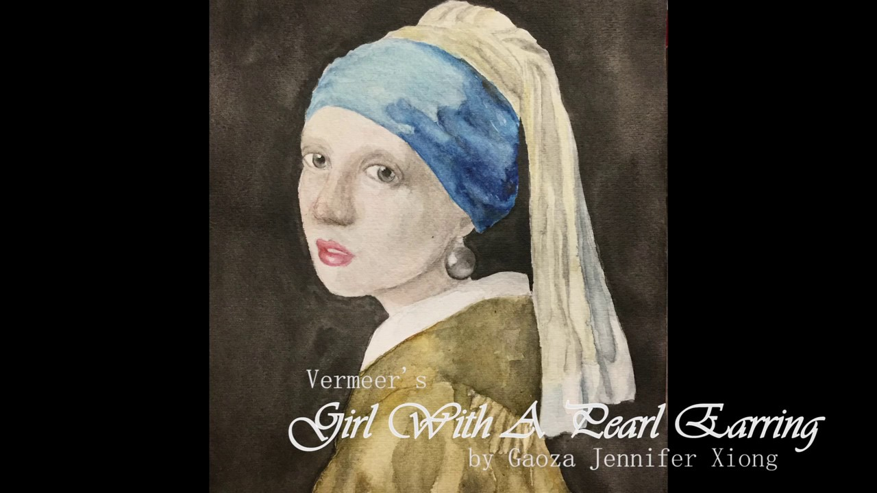 Girl With A Pearl Earring, Watercolor Recreation  Speed Paint