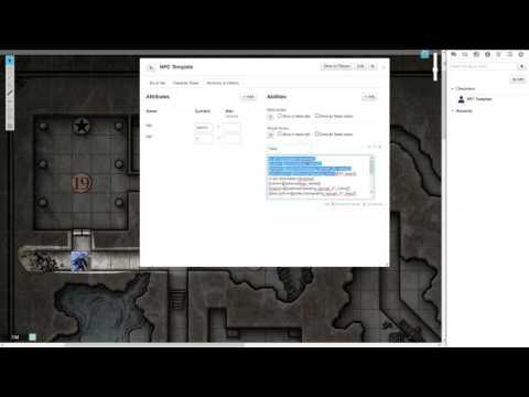 Roll20 - NPC/Monster Template