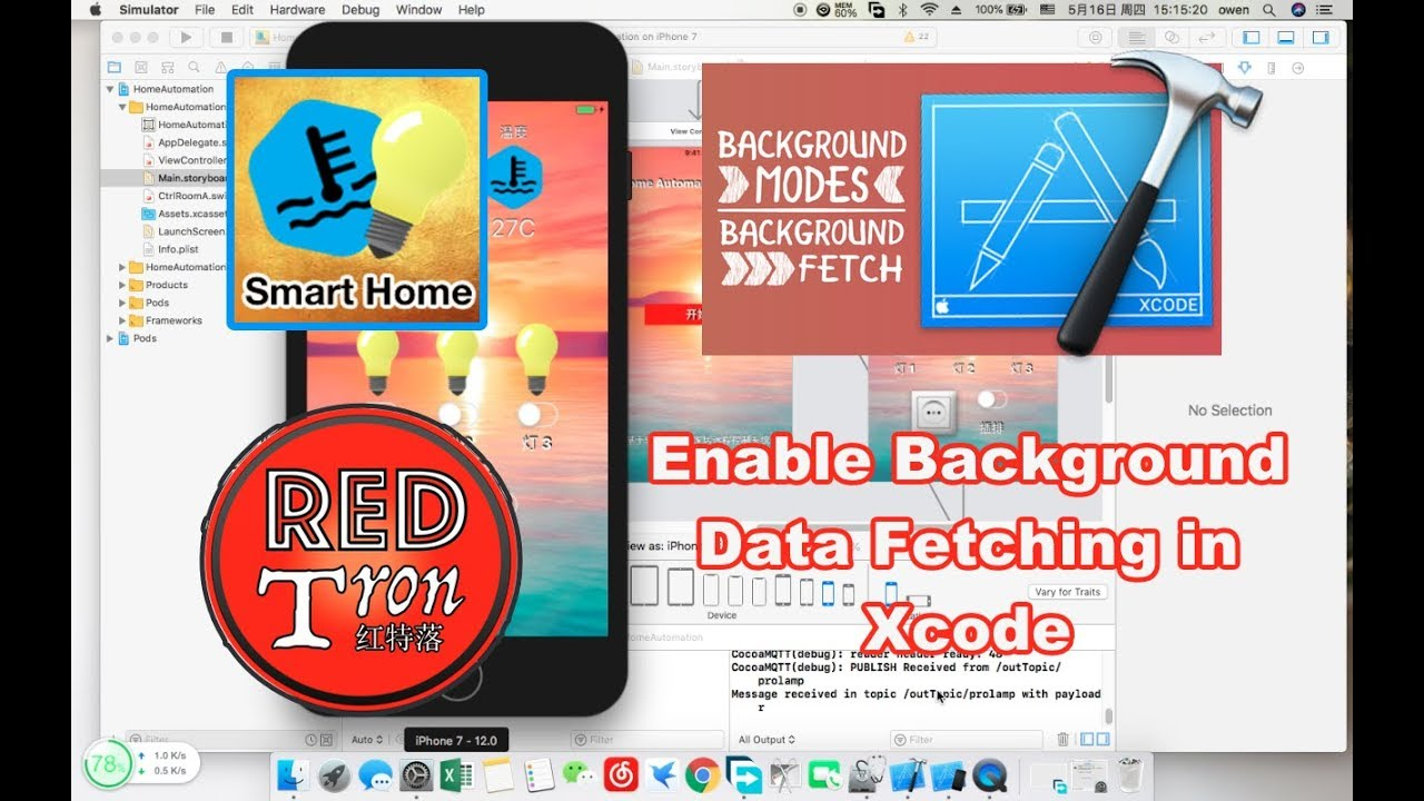 How to enable iOS App background data fetching in Xcode