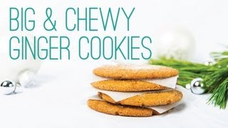 Big Chewy Ginger Cookies - The Hot Plate