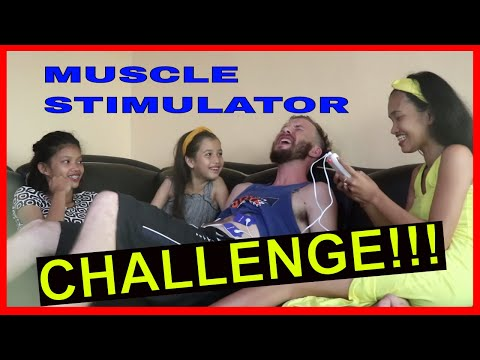 FORGOT OUR WEDDING ANNIVERSARY (Filipina wife gets payback) - MUSCLE STIMULATOR CHALLENGE