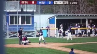 Westfield State University Alex Lafayette home run against Eastern Connecticut St University 4/20/17