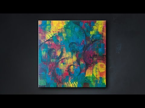 Abstract Painting Technique | Fine Art | Demo | Acrylic Art Series: Video 4