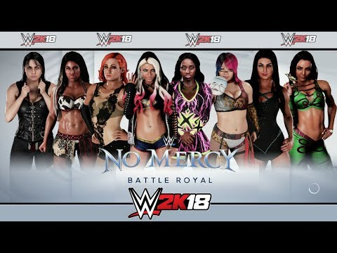 WWE 2K18 Gameplay| 8 Woman Battle Royal (No Mercy Arena)