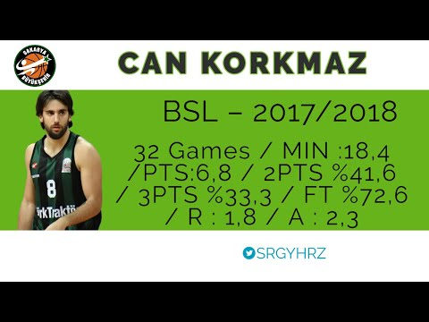 Can Korkmaz - Sakarya BŞB Basketbol 17/18