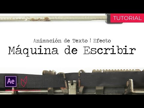 ¡Efecto MÁQUINA de ESCRIBIR! [Type-On] || Tutorial - After Effects