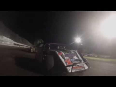 Tim Ward Rear View, Xsan Hawkeye Dirt Tour 07-01-14 at Algona Raceway