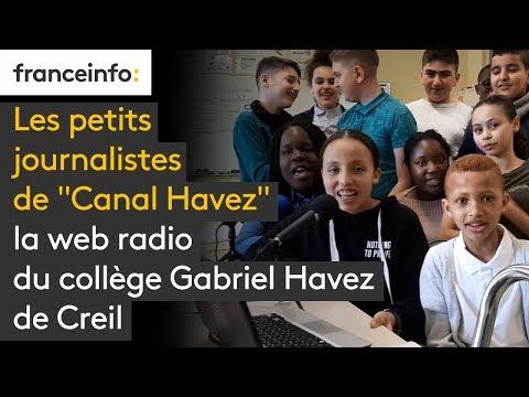 """Les petits journalistes de """"Canal Havez"""", web radio du collège Gabriel Havez de Creil"""