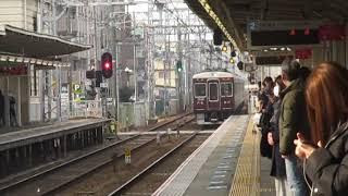 阪急7000系7019F更新車塚口駅高速通過