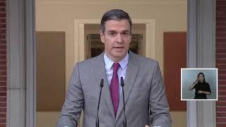 Sánchez realiza una declaración institucional tras la aprobación de los indultos