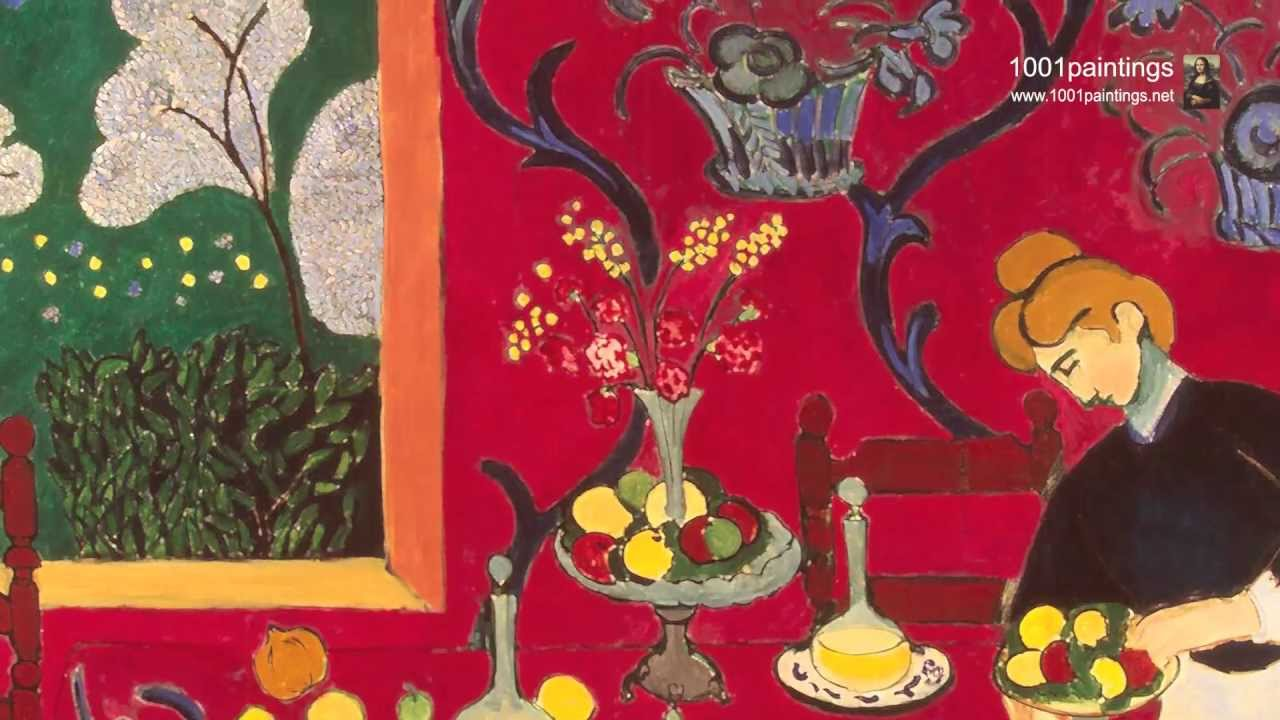 The Dessert Harmony In Red Room By French Painter Henri Matisse