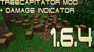 Как установить Damage Indicator, Tree capitator моды на Майнкрафт 1.6.4