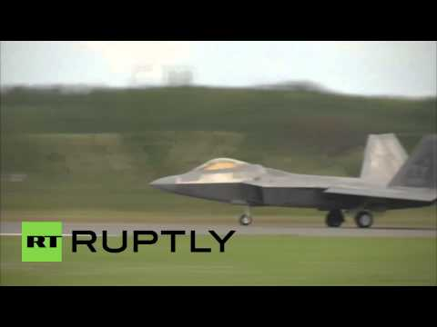Estonia: US F-22 Raptor fighters land at Amari base