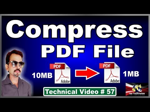 How To Compress PDF File Size  In Hindi # 57