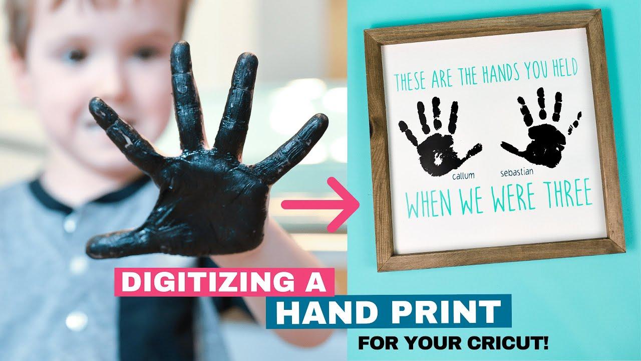 Digitizing a Handprint in Cricut Design Space