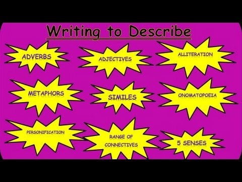How to Describe, to Improve from Grade 6 to Grade 9