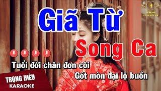 Karaoke Giã Từ Song Ca Nhạc Sống   Trọng Hiếu
