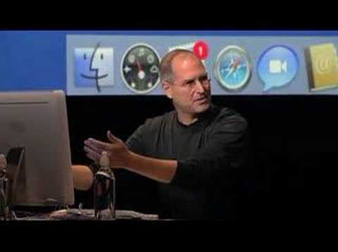all about Steve - Demo of iChat AV & PhotoBooth