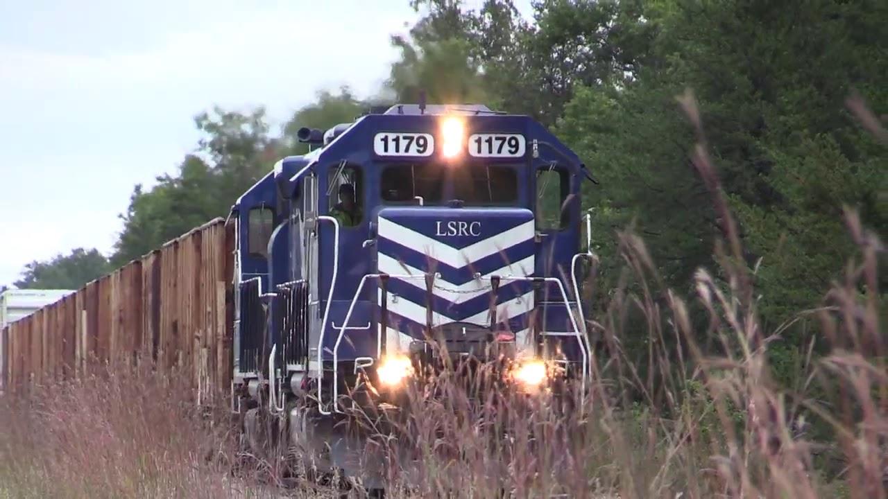 Lake State Railroad Company Train Heading North Through Saint Helen  Chosen  Won 02:28 HD
