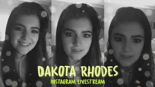 Dakota Rhodes | Instagram Livestream