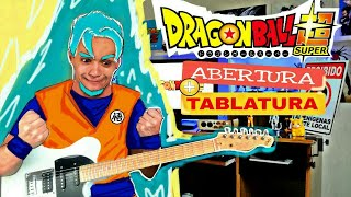 DRAGON SUPER OPENING 1 + TABLATURA + Backingtrack + Preset Amplitube 4 ( ABERTURA DRAGON BALL SUPER)