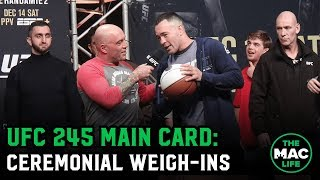 UFC 245 Ceremonial Weigh-Ins: Main Card