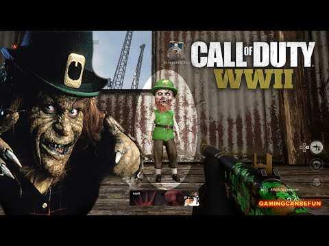 HOW TO KILL A LEPRECHAUN IN CALL OF DUTY WWII | SLOW MO INCLUDED (4K 60FPS)