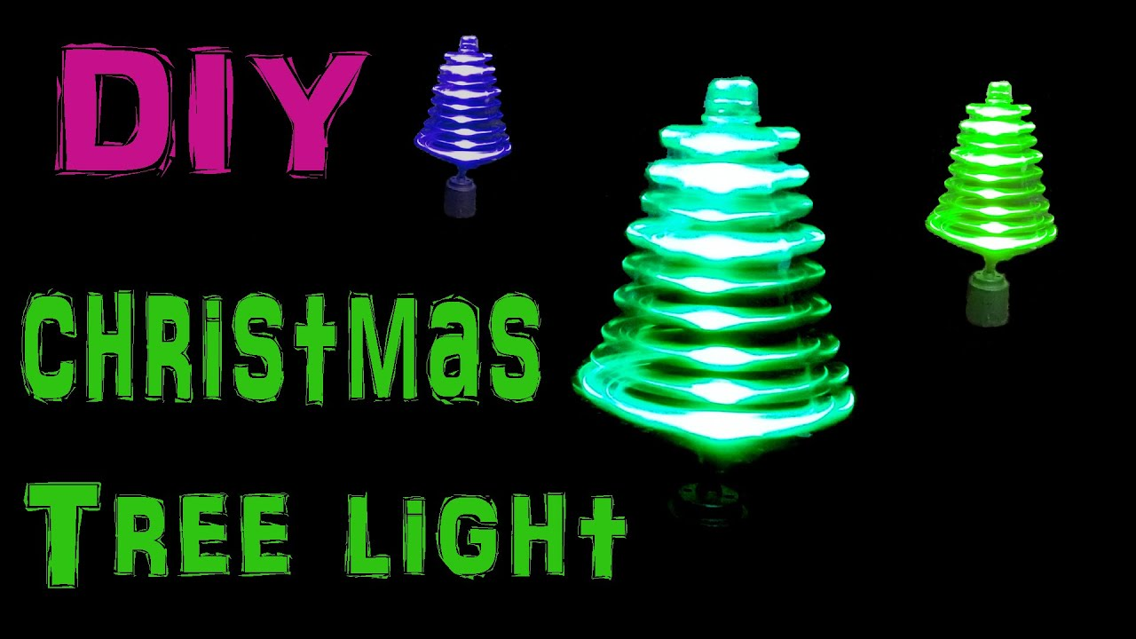 Make Rotating Christmas Tree Light Using LED's And Toy Motor - YouTube