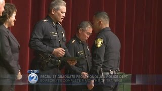 Recruits graduate from Honolulu Police Department academy