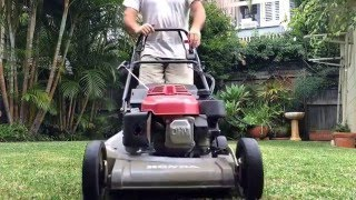 Lawn Mowing with a Self Propelled Honda Lawn Mower Pittwater Mowing Australia