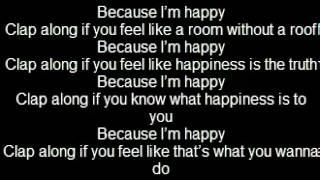 Happy - Pharrell Williams Lyrics video (Letra)