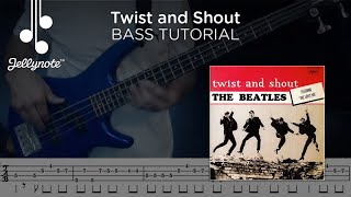 Twist and Shout by The Beatles - Bass tutorial (Jellynote Lesson)